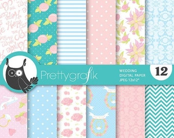 Mint And Peach Wedding Digital Paper Mother S Day Ranunculus