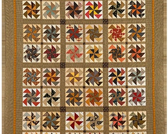 Quilt Pattern - As the Wind Blows Quilt Pattern