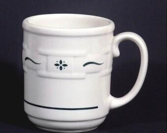 Longaberger Heritage Green Coffee Mug Woven Traditions