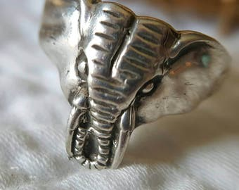 Sterling Silver Elephant Ring (st - 1965)