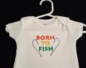 Born to Fish Embroidered Bodysuit