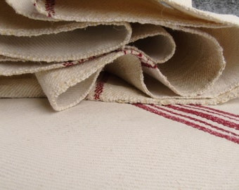 French Grain Sack Upholstering fabric Antique linen roll Vintage linen Stairrunner Tablerunner