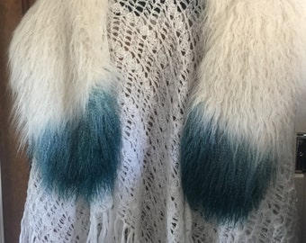 Mongolian sheepskin collar Ladies Wrap Free Size