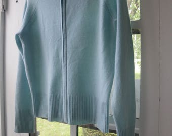 Blue Cashmere  Hoodie Sweater
