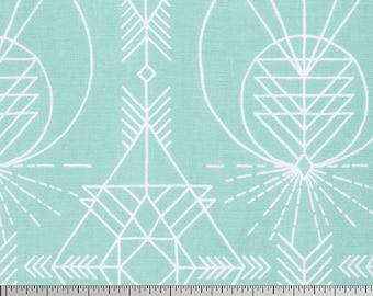 Wander Native in Aqua by Joel Dewberry for Free Spirit Fabrics JD0120- Half Yard or By the Yard
