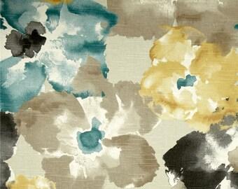 Custom Shower Curtain // Robert Allen // Floral Dew // Choose length and Width // Add Grommets // 72 x 72 // Wide Shower Curtain