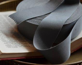 french grey grosgrain ribbon