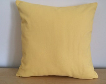 SALE, Yellow Pillow Cover, 18''x18'' Yellow Decorative Pillow Cover