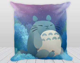 My Neighbor Totoro Throw Pillow - double sided pillowcase - Night and Day Studio Ghibli