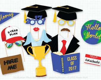 graduation photo booth props photobooth props college graduation university graduate props - Graduation Party