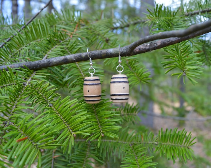 Whiskey Barrel Wooden Earrings