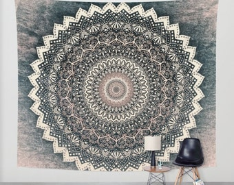 WARM WINTER MANDALA Wall Bohemian Tapestry