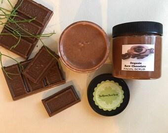 ORGANIC Raw Chocolate   cleansing, facial scrub exfoliant  8 fl oz