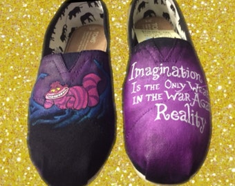 Alice in Wonderland Toms. Cheshire Cat Toms. Cheshire Cat Shoes.