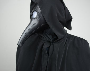 Plague Doctor Mask Costume Steampunk Black Cosplay
