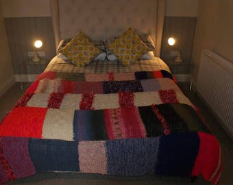 Hamd made knitted blanket from 'itsanatasha'