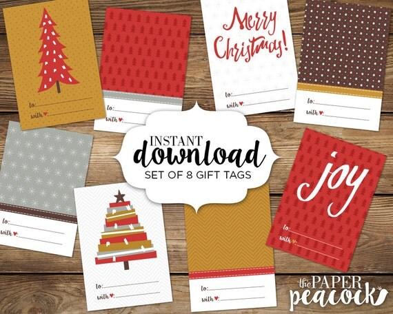 8 christmas gift tags
