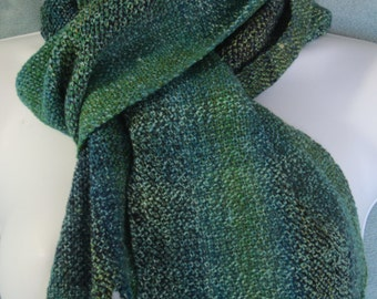 High Sierras - Handwoven merino, silk, and bamboo scarf