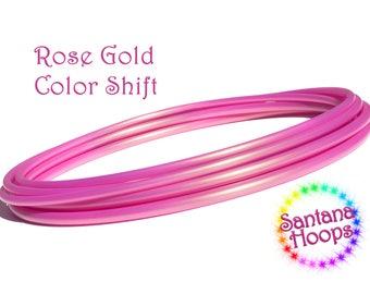5/8 Mini Twins  Rose Gold Color shift Polypro Hula Hoop Minis