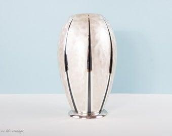 Art Deco Vase WMF Ikora Germany silverplated, 30s Vase, Shabby Chick Vase, Vintage Silverplated Vase, Mid Century Vase, Vintage Metal Vase