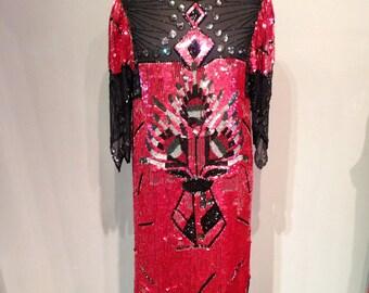 Art Deco Style Sequins Dress