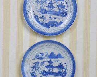 Vintage Set of 2 Canton Plates