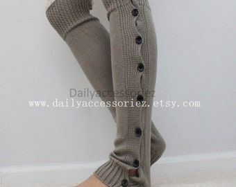 Spring sale gray womens leg warmers, lace leg warmers, leg warmers adult, boot socks, for girls, for women, for her, for mom, lace trim