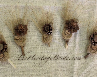 Boutonniere, Rustic Boutonnieres, Groomsmen Boutonniere, Best MAN
