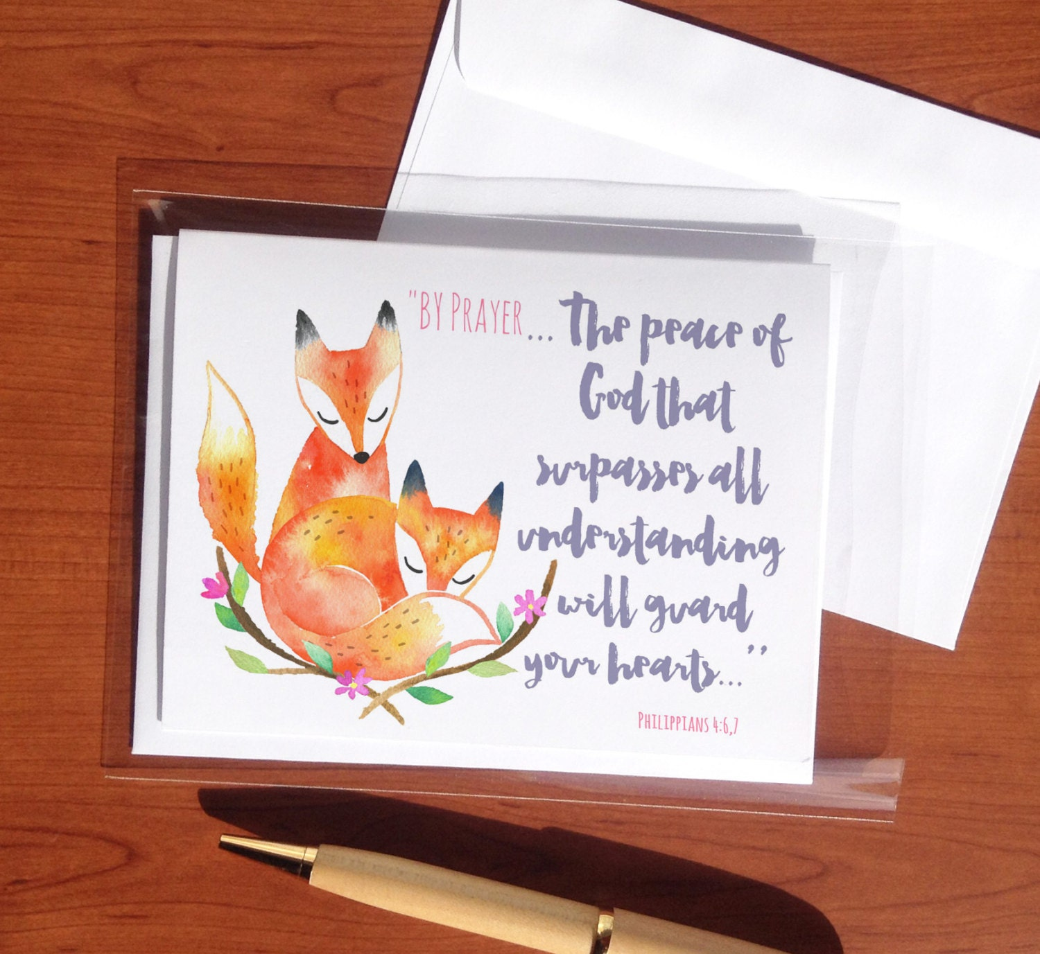 Peaceful by prayer jw greeting cards