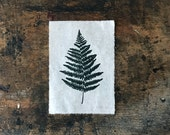 """Fern Leaf Lino Print, 5x7"""", Limited Edition of 60"""