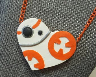 BB-8 Heart Necklace - Star Wars inspired Choker