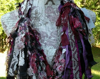 RECYCLED REMNANTS-Upcycled Scrappy Scarf-Orchid Medley