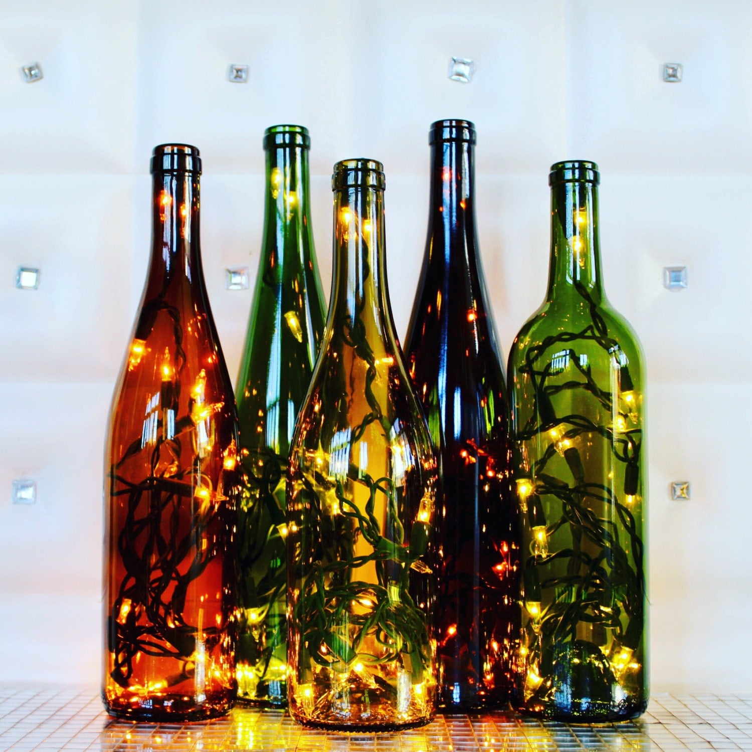 Recycled wine bottle glasses -  Zoom