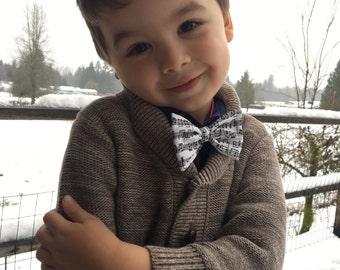 SALE! Music note bow tie mens/kids