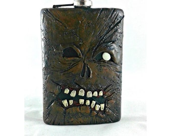 Necronomicon 8 oz Flask, Evil Dead Flask