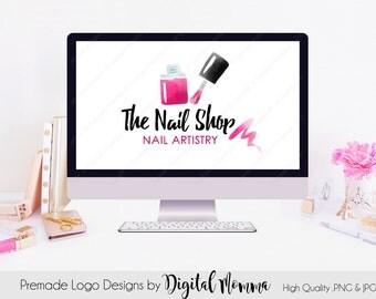 Premade Nail Polish Logo Design, Nail Artist Logo, Manicure Logo Design