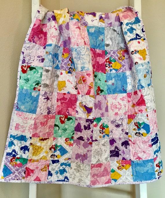 Ready to ship modern Disney princess baby quilt toddler : disney princess quilt - Adamdwight.com