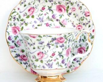 Royal Albert Vintage Chintz (4429) Teacup & Saucer