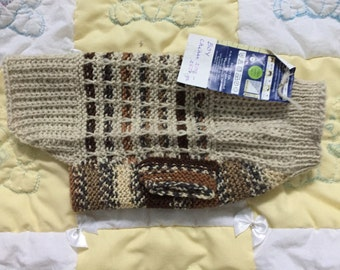 Beige and brown pet sweater