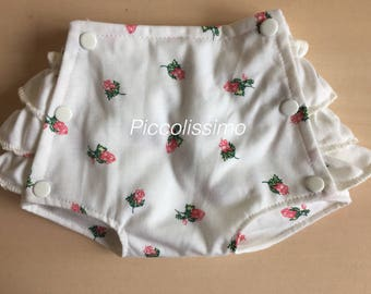 "16"" frilly diaper cover with roses"