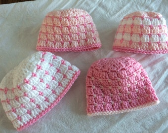 Newborn baby hats, your choice of colors - mix and match