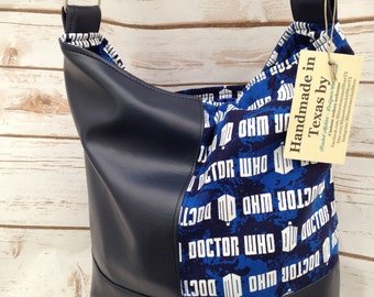 Doctor Who Purse - Swoon Bonnie pattern - Ready to Ship