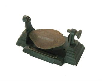 Vintage Industrial Age Cast Iron Wall Mount Paper Dispenser, Facotry, Office, Garage, Steampunk Decor, General Store