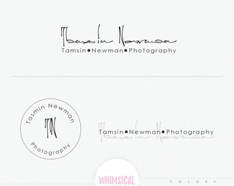 Photographer Signature - gender neutral photography branding kit- male wedding photographer logo fully customized- artistic signature logo