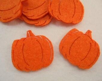 10 Pumpkin, felt, 4x4 cm, *** Color choice **