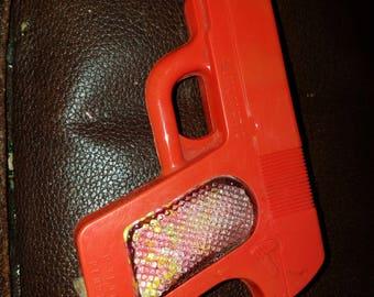 Vintage Plastic Gun Candy Container