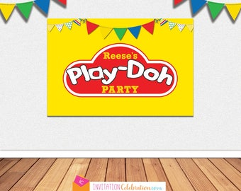 Play-doh Party BACKDROP - Personalized - Large Poster - Printable File - You CHOOSE SIZE