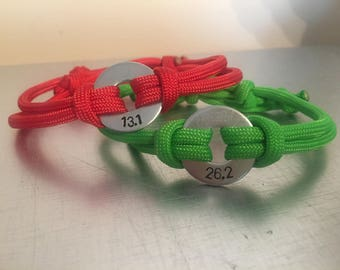ACCOMPLISHMENT Bracelet - Personalized One Washer Double Strap Paracord Bracelet