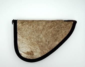 Medium Hair on Hide Leather Handgun Case