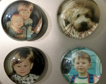 Custom Glass Photo Magnets (set of 4 or 6)